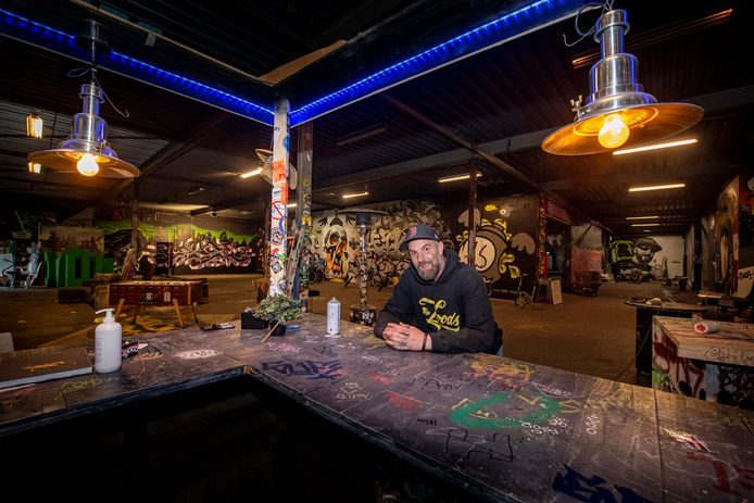 Remco van den Beemd is de baas van graffiti-hal The Loods in Roosendaal.
