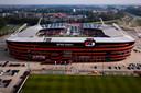 De schade aan het AFAS Stadion van AZ