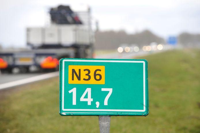 Rijksweg N36 wordt komende week in de avond- en nachtelijke uren deels afgesloten.