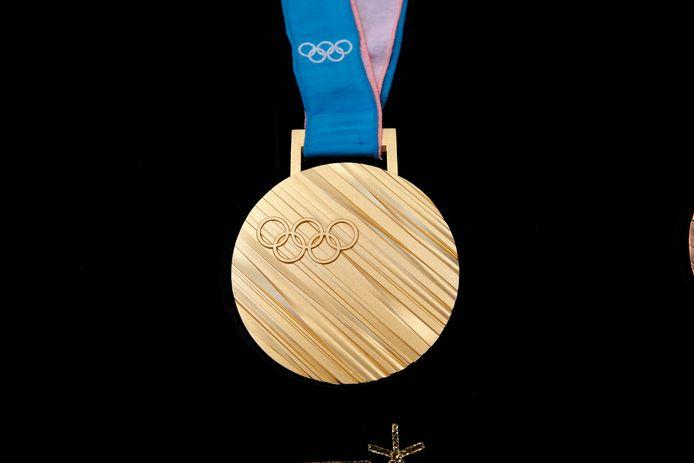 Zo ziet de gouden medaille eruit in Pyeongchang.