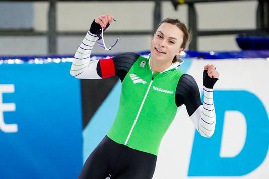 Femke Kok, Nederlands kampioene op de 500 meter.