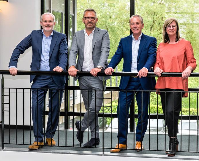 Wilbert Savonije, Geert Motmans, Marcel van Bergen en Liesbeth Vandenrijt van Berg  Motmans & Partners.