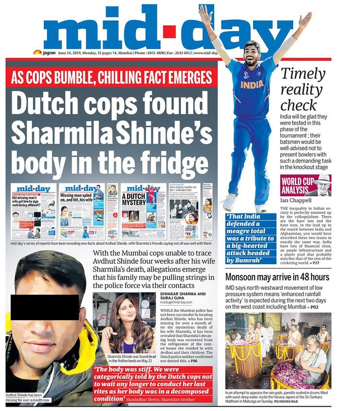De Indiase krant Mid-Day is in de moord op Sharmila gedoken.