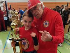 Lisha (12) uit Maasdam is Europees kickbokskampioen