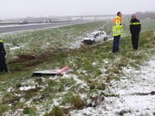 Veel schade en botsingen door winterweer in regio Amersfoort