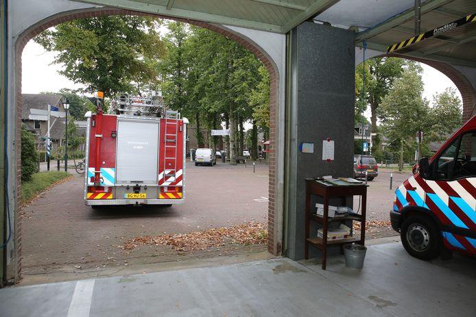 De huidige brandweerkazerne van Almen die niet meer aan de eisen van deze tijd voldoet.