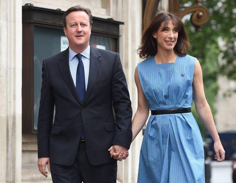 David Cameron en zijn vrouw Samantha Beeld epa