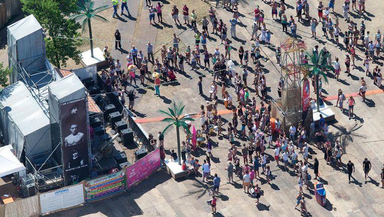 Bezoekers van Milkshakefestival in het Westerpark Beeld ANP
