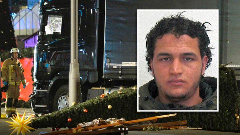 Op de truck zouden de vingerafdrukken van de 24-jarige Tunesiër zijn gevonden. Beeld EPA