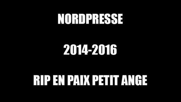 Met deze boodschap kondigt Nordpresse zijn einde aan.
