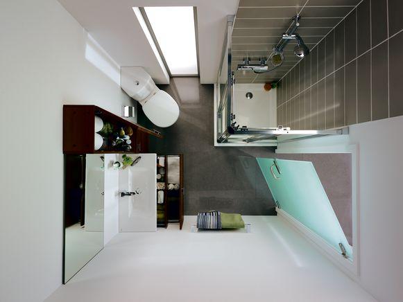 Ga voor lichte kleuren, vermijd donker en druk. Witte muren doen je badkamer groter lijken.