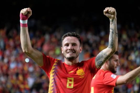 Saúl Ñíguez Esclápez (23) opende gisteravond de score in zijn geboortestad Elche.