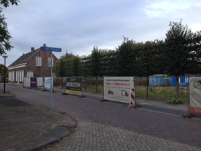 De bouwlocatie aan de Vicaris Aertsweg in Schijndel.