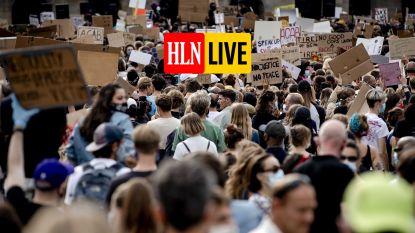 HLN LIVE. Duizenden mensen demonstreren tegen politiegeweld in Amsterdam, zonder social distancing
