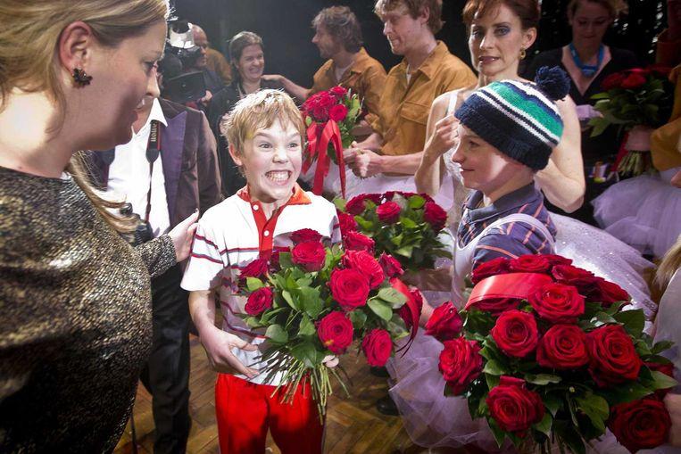 De 13-jarige Carlos mocht als eerste in de huid van Billy Elliot kruipen Beeld Evert-Jan Daniels