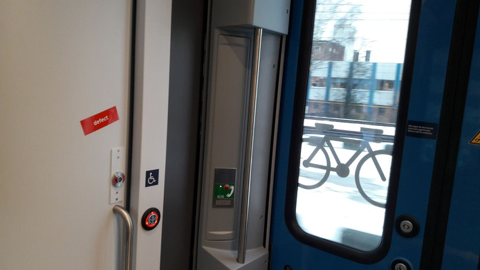 WC defect in nieuwe trein