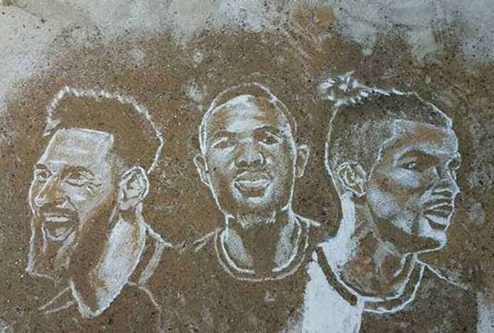 Lionel Messi, Samuel Eto'o et Cristiano Ronaldo, vus par Kobe Williams
