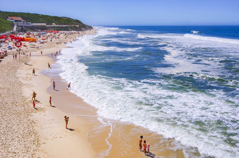 Het strand van São Pedro de Moel, in de buurt van de stad Leiria.