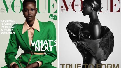 Wie is Adut Akech? Het 19-jarige model dat de cover van 3 'Vogue'-septembernummers siert