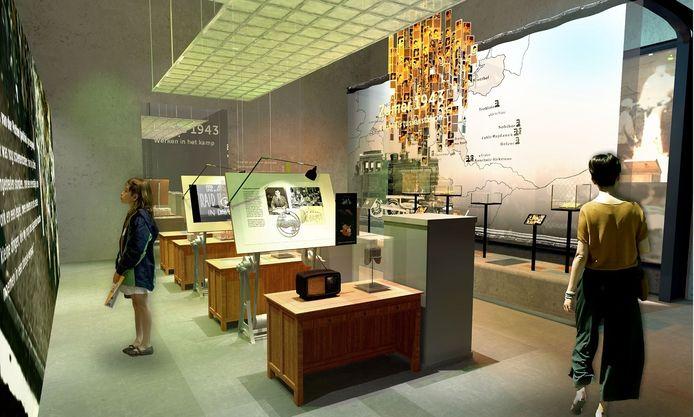 Een impressie van de nieuwe tentoonstelling van NM Kamp Vught.