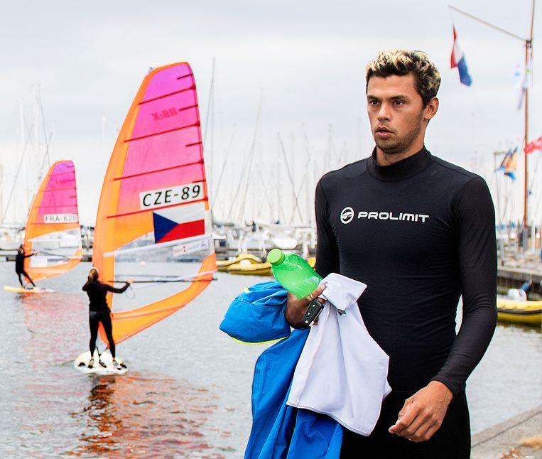 Wereldkampioen Kiran Badloe. De sportman uit Almere zal later dit jaar Nederland vertegenwoordigen op de Olympische spelen van Tokio. Beeld Klaas Jan van der Weij