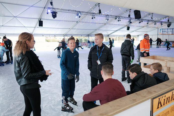 Archieffoto van de schaatsbaan in Duiven.