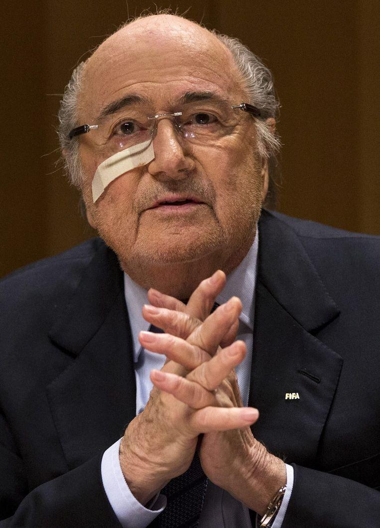 Sepp Blatter. Beeld null