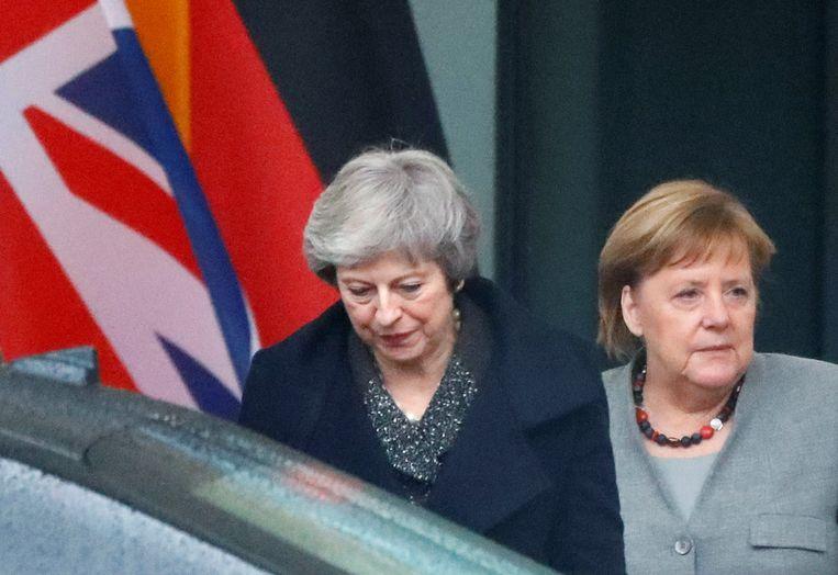 De Britse premier Theresa May met Duits bondskanselier Angela Merkel.