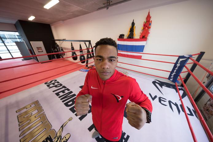 Kickboxer Endy Semeleer uit Emmeloord winnaar Enfusion Final 8 Abu Dhabi en won daarmee 100.000 euro.Foto Freddy Schinkel, IJsselmuiden © 111217