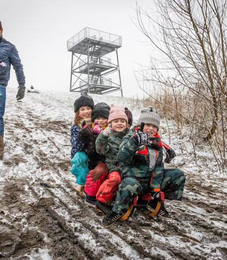 Sneeuwpret in de Broekpolder