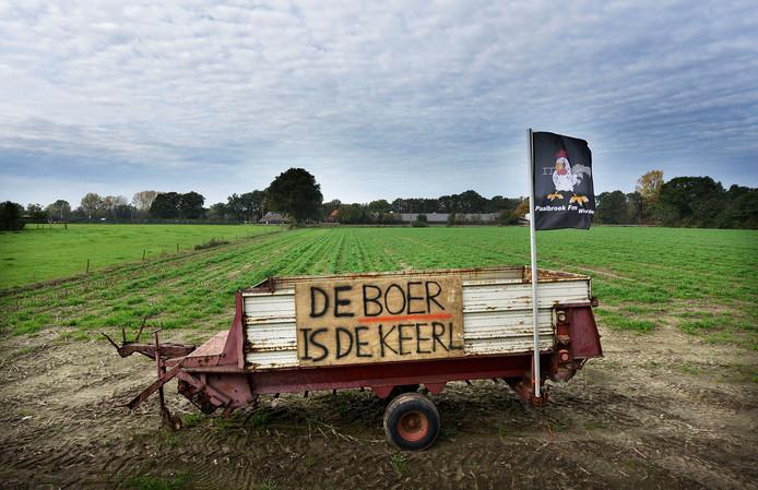 Boerenprotest tussen Rijssen en Wierden. Eigenlijk geen protest maar een mooie Twentse uitdrukking.