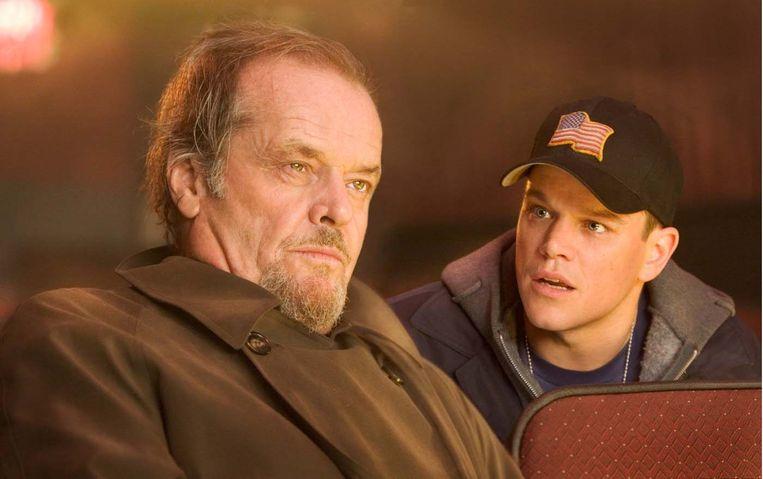 Jack Nicholson en Matt Damon in The Departed. Beeld
