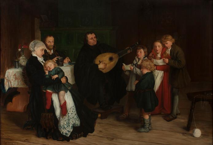 Luther als vader van een gezin.