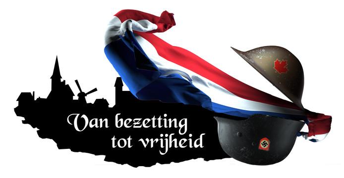 Het logo voor 'Van bezetting tot vrijheid',