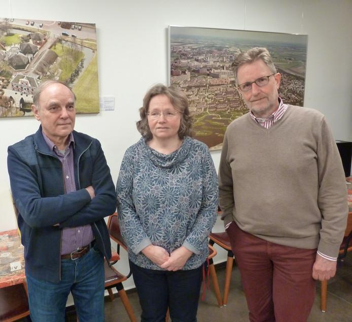 V.l.n.r. Paul Schoenmakers, Karen Kranen en Ad Jansen.