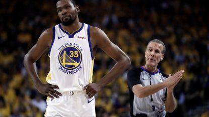 Kevin Durant reist met Golden State af naar Toronto