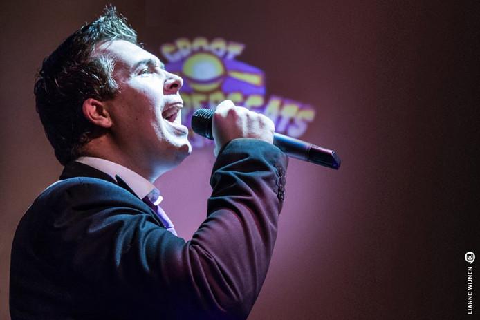 Rob van Daal won een eerdere editie van het Groot Striepersgats Liedjesfestival. I