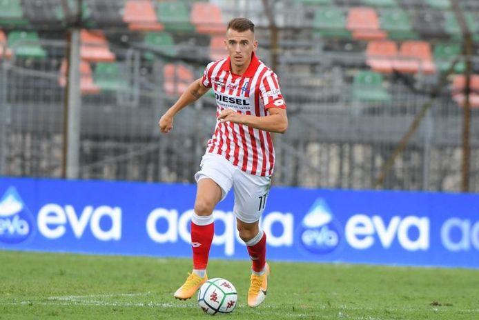 Gentenaar Jari Vandeputte verzekerde zich vorig seizoen met Vicenza Virtus van promotie naar de Serie B.
