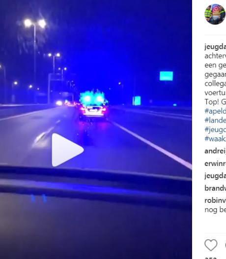 Politieachtervolging over A1 eindigt met aanhouding