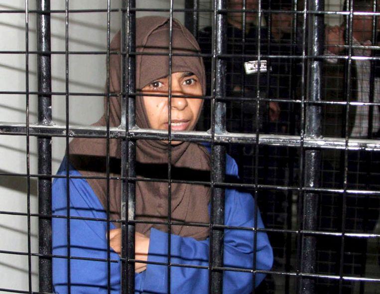 Sajida al-Rishawi in een gevangeniscel in Amman. Beeld ANP