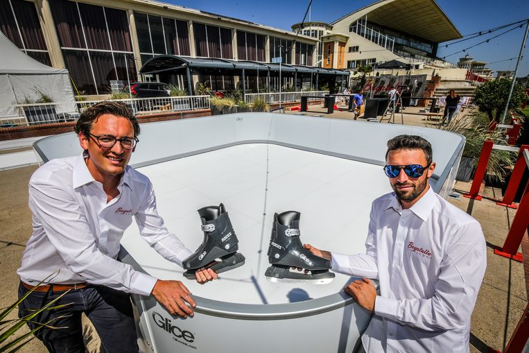 Oostende bagatelle summer bar met schaatspiste: Olivier Dedrie en Bjorn Soudan