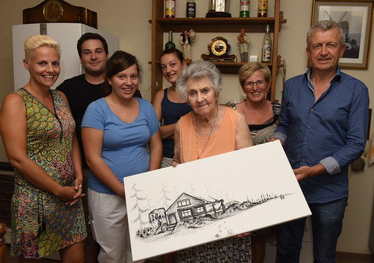 Emilia krijgt schilderij van bjorn gijssels regio hln