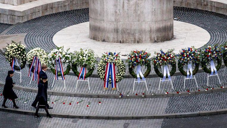 Het Monument op de Dam op 4 mei. Beeld anp
