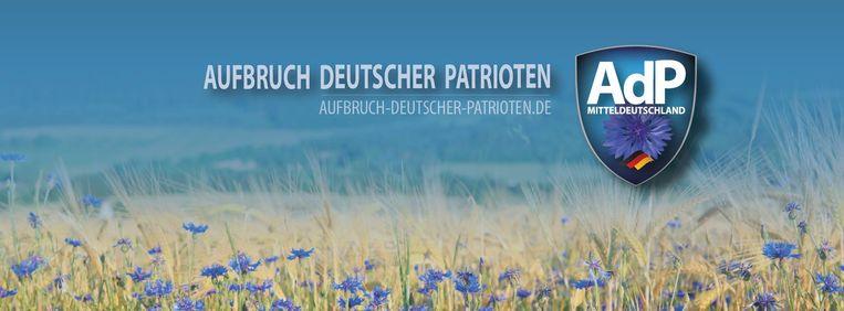 De korenbloemen op de Facebookfoto van Aufbruch der deutschen Patrioten (AdP)