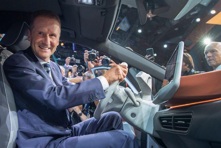 Herbert Diess, de ceo van Volkswagen Beeld DPA