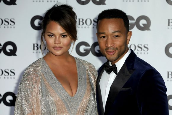 Model Chrissy Teigen en haar man John Legend.
