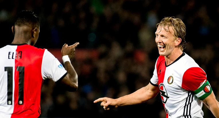 De altijd optimistische aanvoerder Dirk Kuijt scoorde er een en gaf een assist. Beeld anp