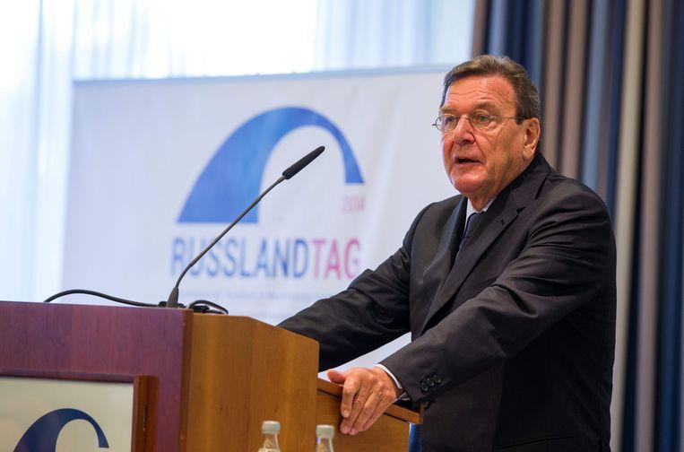 Gerhard Schröder Beeld epa