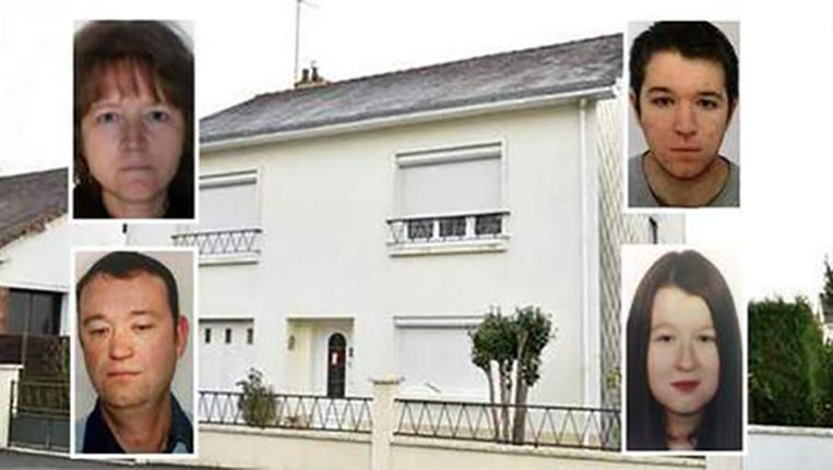 Vader Pascal, moeder Brigitte, zoon Sébastien en dochter Charlotte werden op gruwelijke wijze vermoord in hun huis in Orvault.