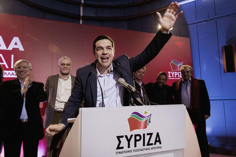 Syriza-voorman Alexis Tsipras. Beeld Daniel Rosenthal / de Volkskrant